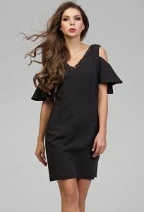 Чёрное коктейльное платье Donna Saggia DSP-300-6