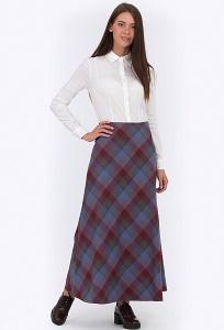 Длинная юбка в клетку Emka Fashion 314-britni