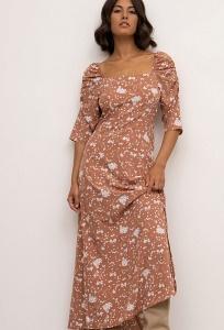 Приталенное платье с цветочным принтом Emka PL1150/annick