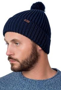 Мужская одинарная шапка с помпоном Landre Рико