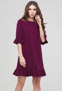 Платье с воланами на рукавах Donna Saggia DSP-298-87