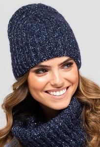 Тёмно-синяя шапка бини Kamea Alicante
