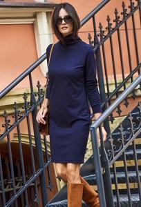 Платье тёмно-синего цвета Nuninou NU127