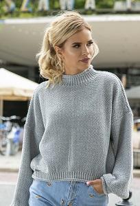 Укороченный свитер с длинным рукавом Fobya F550