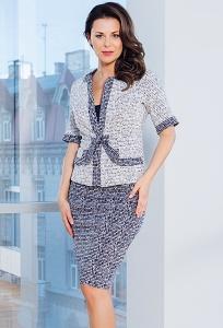 Женский костюм блузка + жакет TopDesign Premium PA7 02