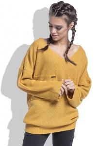 Женский свитер медового цвета Fobya F439