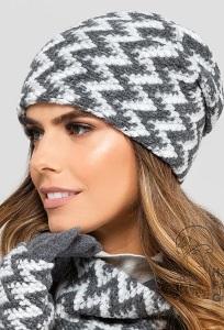 Двухцветная женская шапка Kamea Madison