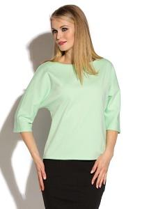 Светло-зеленая трикотажная блузка Donna Saggia DSВ-35-83t