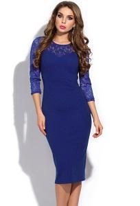 Коктейльное платье с кружевом Donna Saggia DSP-256-7t