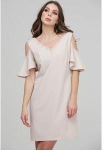 9d26287fe75 Коктейльное платье из розового бархата Donna Saggia DSP-271-80t ...