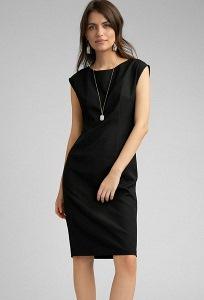 Платье-футляр черного цвета Emka PL1016/premiera