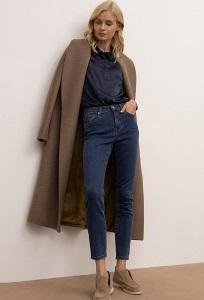 Стильные синие джинсы зауженного силуэта Emka D160/nirvana