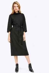 Платье-миди с воротником хомут Emka PL797/fayona