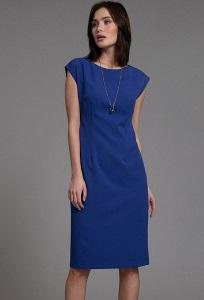 Платье-футляр синего цвета Emka PL1016/caracas