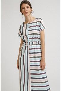 Хлопковое платье в полоску Emka PL895/claretiya