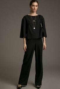Свободные брюки черного цвета Emka D167/zofia
