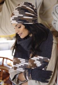 Комплект шапка и шарф Kamea Albany