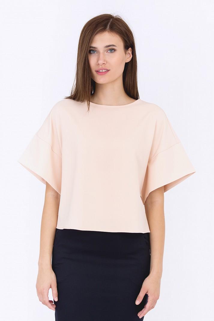 d5c63f0f218 Персиковая блузка Emka Fashion b 2202 fidan - Malinka-fashion.ru