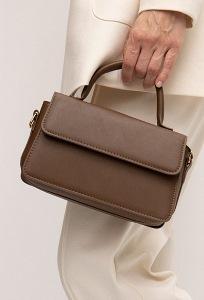 Коричневая сумка из матовой экокожи Emka C051/frollo