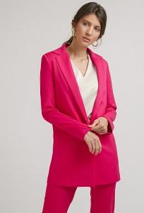 Длинный яркий жакет розового цвета Emka ML550/mondrian