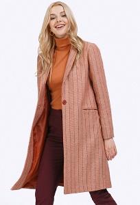 Оранжевое женское пальто Emka R026/mirtle