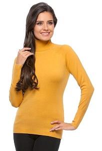 Водолазка горчичного цвета Conso Wear KWTS160707