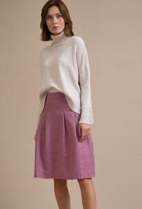 Малиновая юбка А-силуэта Emka S848/lukiy