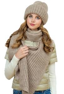 Комплект объёмная шапка + шарф Landre Марсела