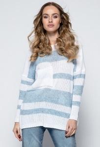 Свободный полосатый свитер Fimfi I240