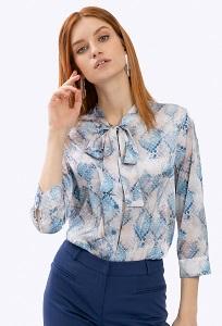 Блузка с воротником аскот Emka B2366/snaiky