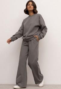 Широкие трикотажные брюки-макси Emka D212/readn