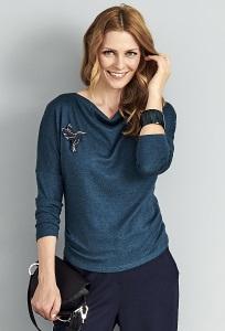 Бирюзовая блузка Sunwear A03-5-16
