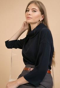 Блузка с воротником хомут Emka B2268/lorena