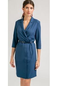 Синее платье на молнии Emka PL843/adania