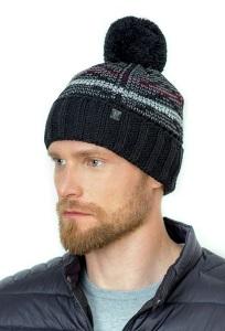 Теплая мужская шапка с помпоном Landre Роберто
