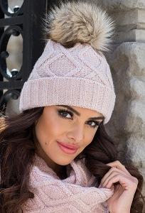 Женская шапка с помпоном Kamea Ismena