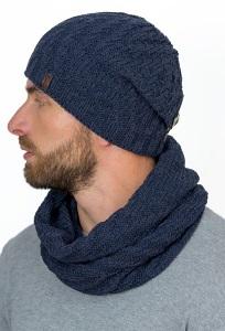 Мужской комплект шапка с закрепкой сзади + снуд Landre Бернардо