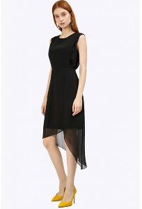 Чёрное платье для коктейля Emka PL787/sello