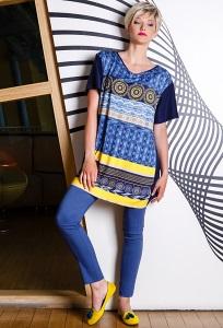 Женские брюки синего цвета Flaibach 022S6