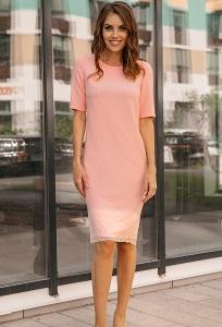 Платье нежно-розового цвета Donna Saggia DSP-272-54