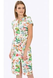 Летнее платье с V-образным вырезом Emka PL881/soprana