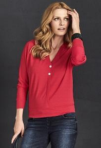 Красная трикотажная блузка Sunwear A23-5-07