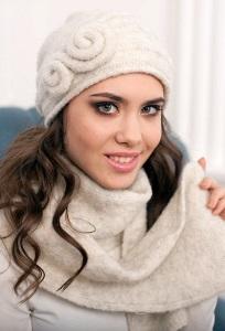 Женский шарф из итальянской пряжи Landre Z6316