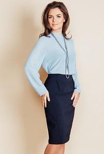 Тёмно-синяя юбка TopDesign B6 114