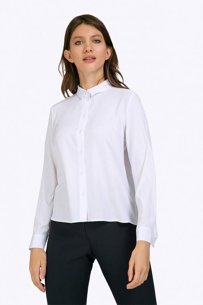 a4f249b63bb Белая офисная блузка Emka B2375 luisa купить в интернет-магазине