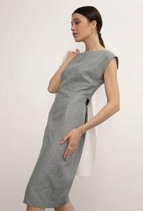 Лаконичное приталенное платье Emka PL1016/nutel