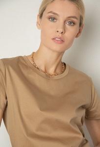 Женская бежевая футболка Emka B2579/mind
