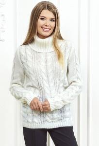 Белый женский свитер Andovers Z299