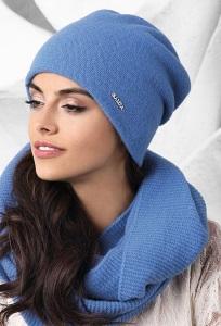 Шерстяная шапка синего цвета Kamea Macerata