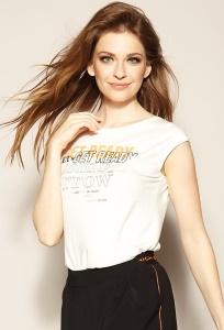 Блузка с надписью на груди Zaps Priscilla
